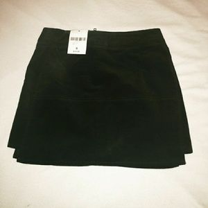 Forever 21 Midnight Black Velvet Mini A-line Skirt